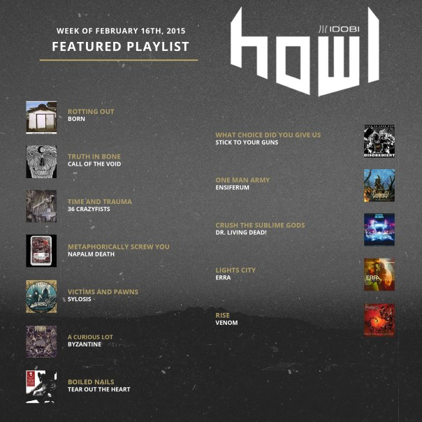 021615 HOWL PLAYLIST