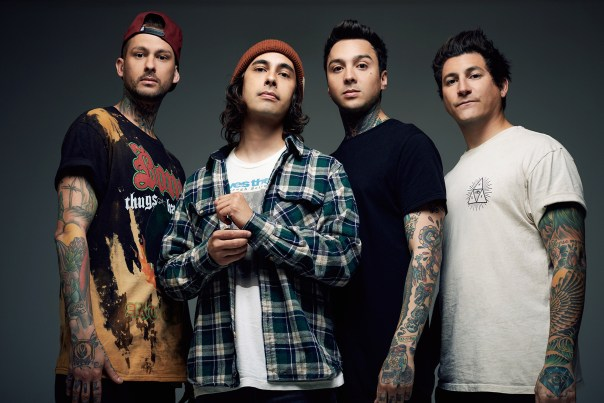 LEFT TO RIGHT:  Mike Fuentes, Vic Fuentes, Tony Perry, Jaime Preciado
