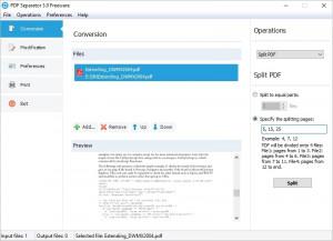 PDF Separator náhled pro download