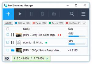 Free Download Manager náhled pro download