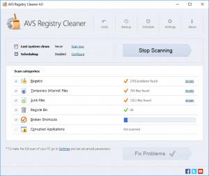 AVS Registry Cleaner náhled pro download