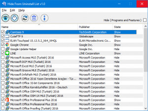 Hide From Uninstall List náhled pro download