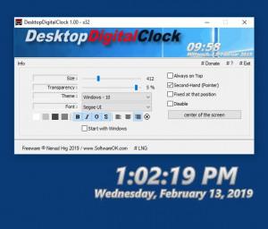 s desktopdigitalclock