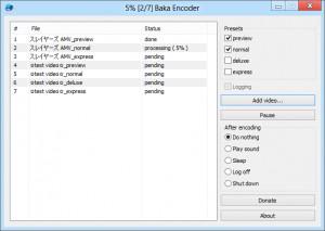 Baka Encoder náhled pro download