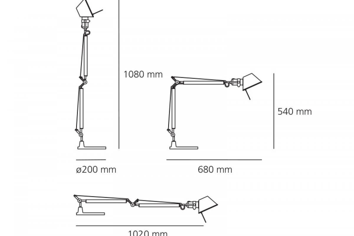 Artemide Tolomeo Mini Solo Estructura A