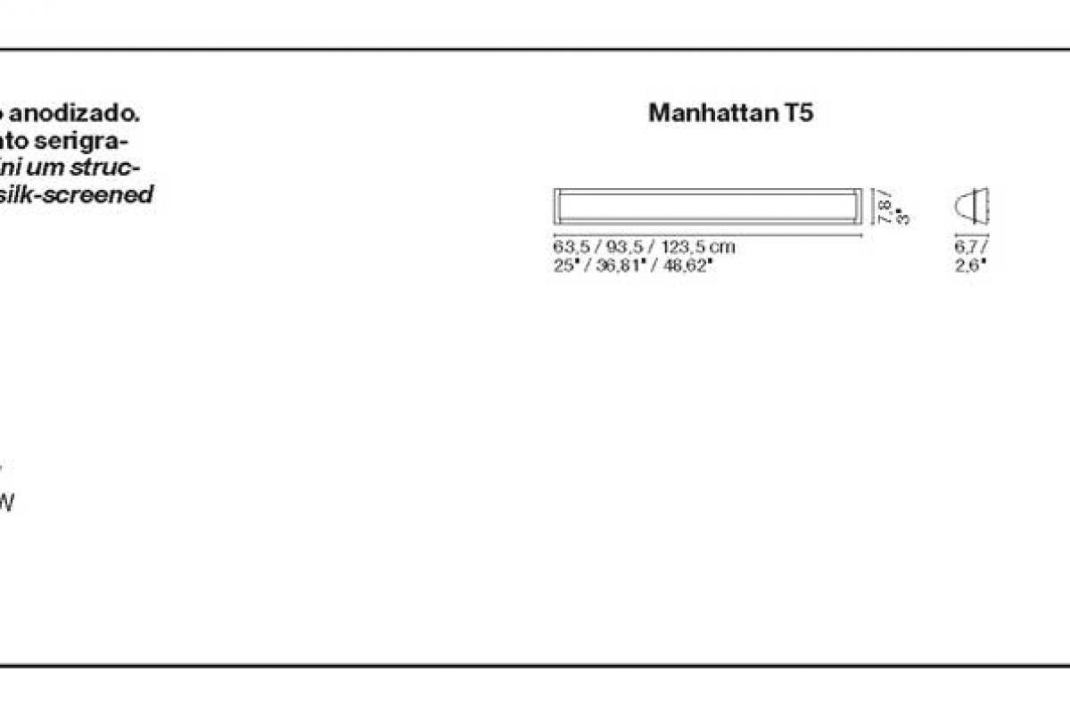 Marset Manhattan T5 123 5 Wall Lamp It5 54w A 004