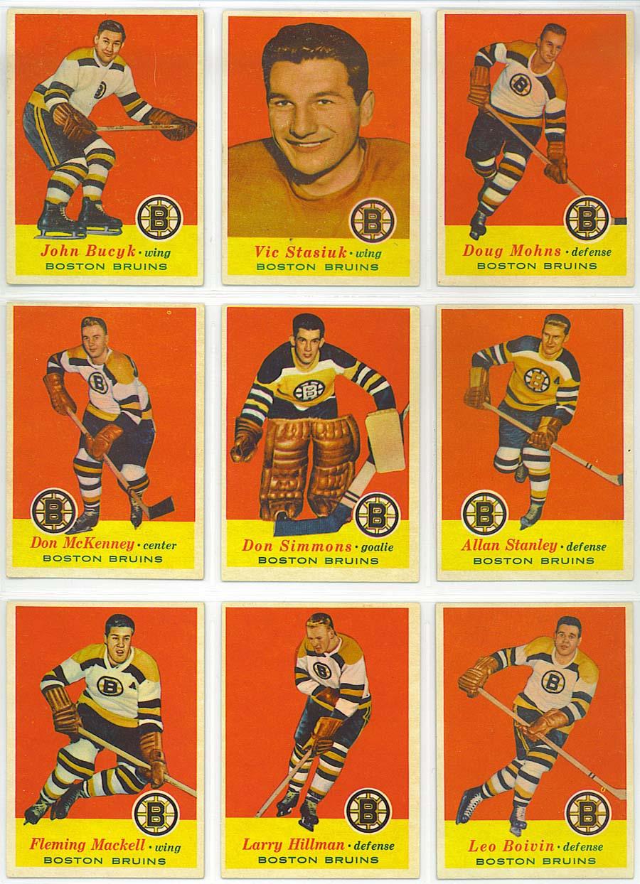 1957-58 Topps Hockey - cards 10-18