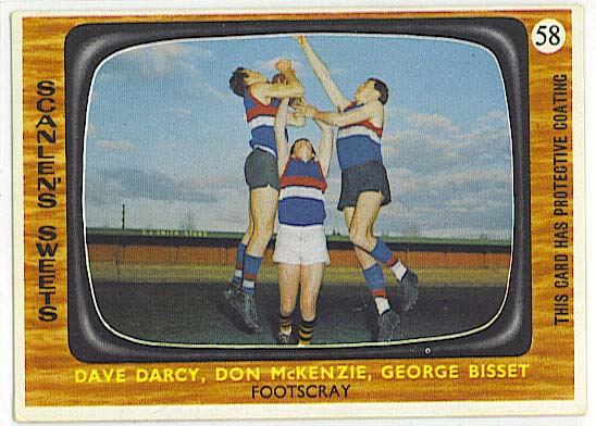 Three Footscray players - 1967 Scanlen's VFL