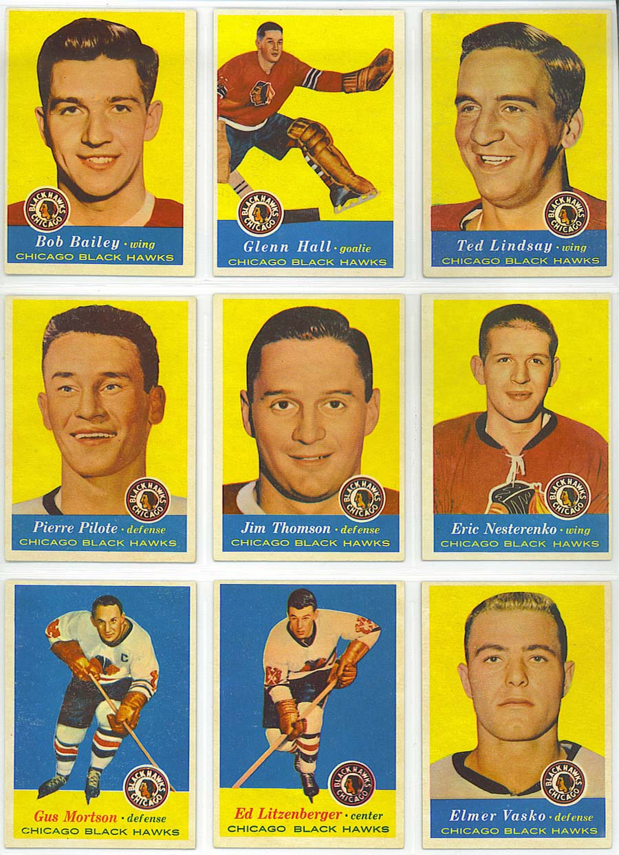 1957-58 Topps Hockey - cards 19-27