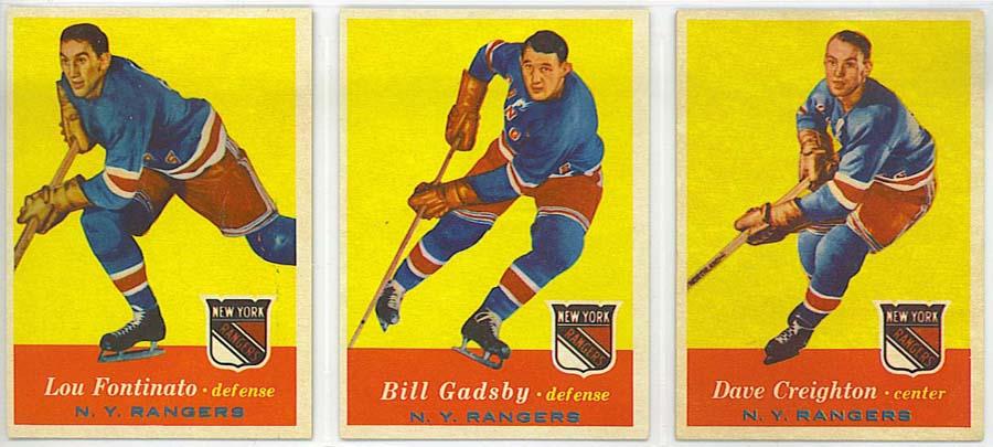 1957-58 Topps Hockey - cards 64-66