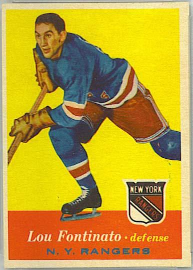 Lou Fontinato - 1957-58 Topps