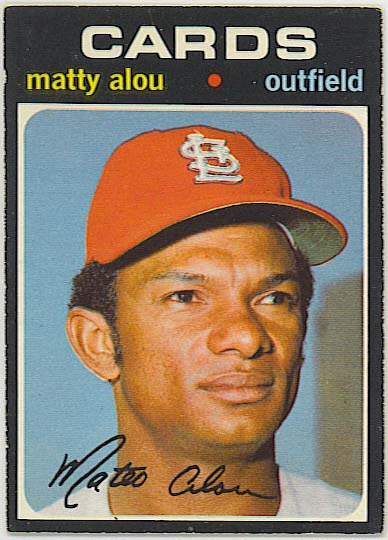 Matty Alou - 1971 OPC baseball