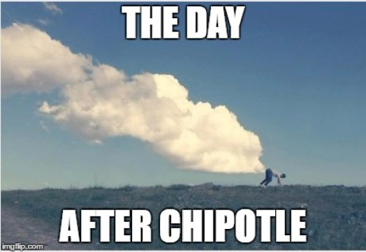 Image result for chipotle farts