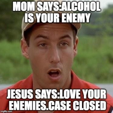 Image result for adam sandler alcohol meme