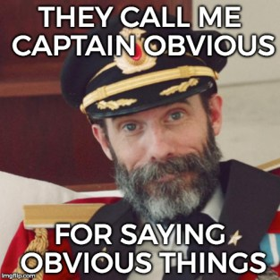 Image result for captain obvious