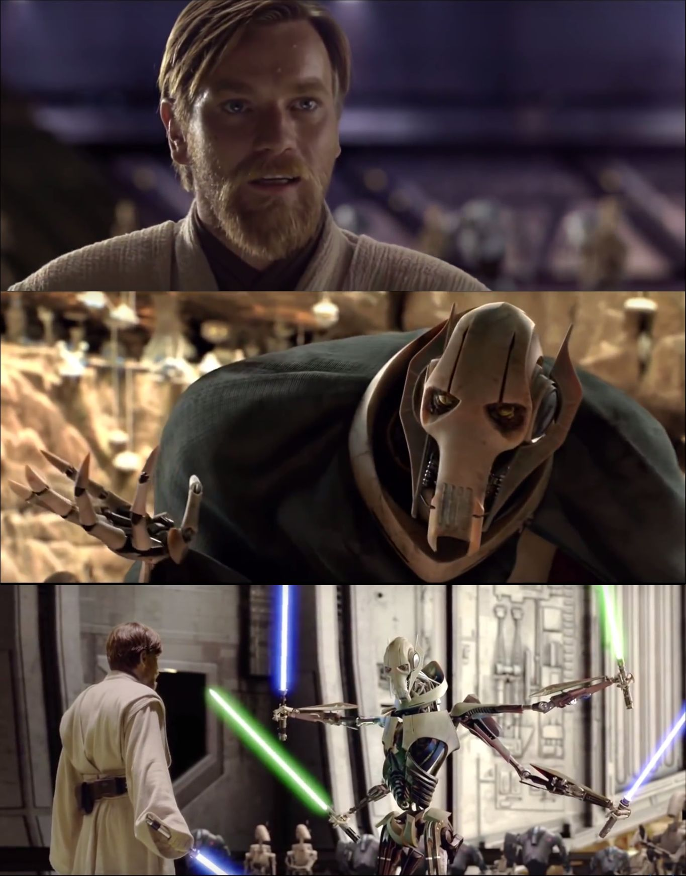 Hello There Obi Wan Vs Grievous Blank Template Imgflip
