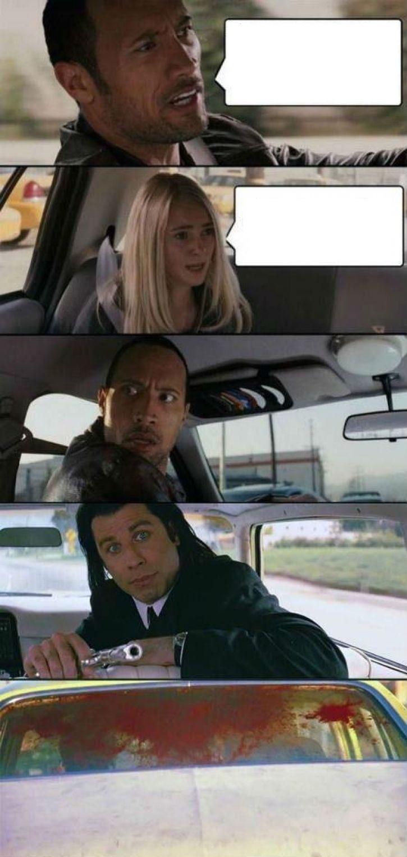 Rock Travolta Driving Blank Template Imgflip