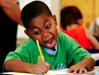 kid writing fast Blank Template - Imgflip