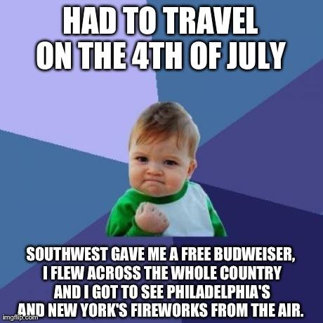 I unintentionally won Independence Day