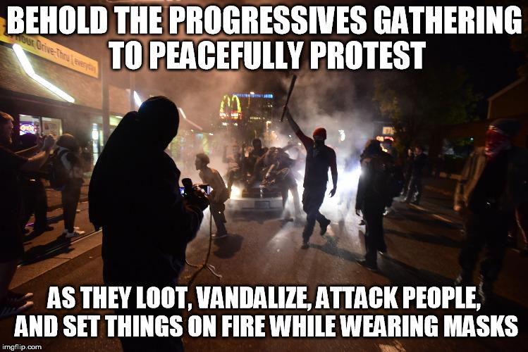 Portland Riots - Imgflip
