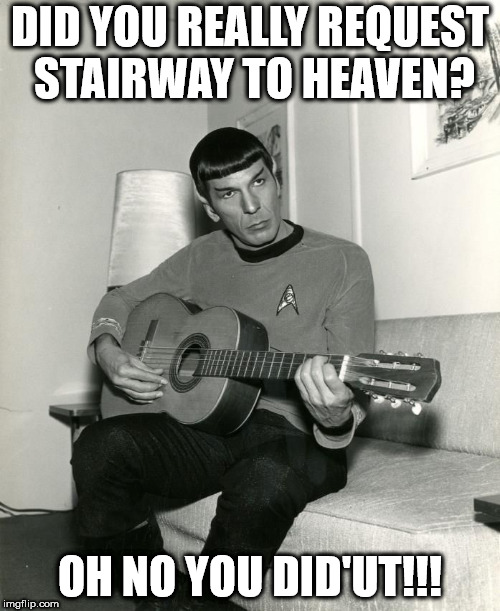 Spock On Guitar Imgflip