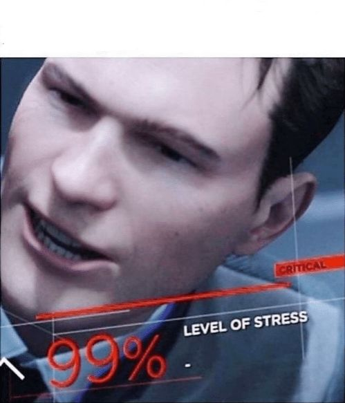 99 Level Of Stress Blank Template Imgflip