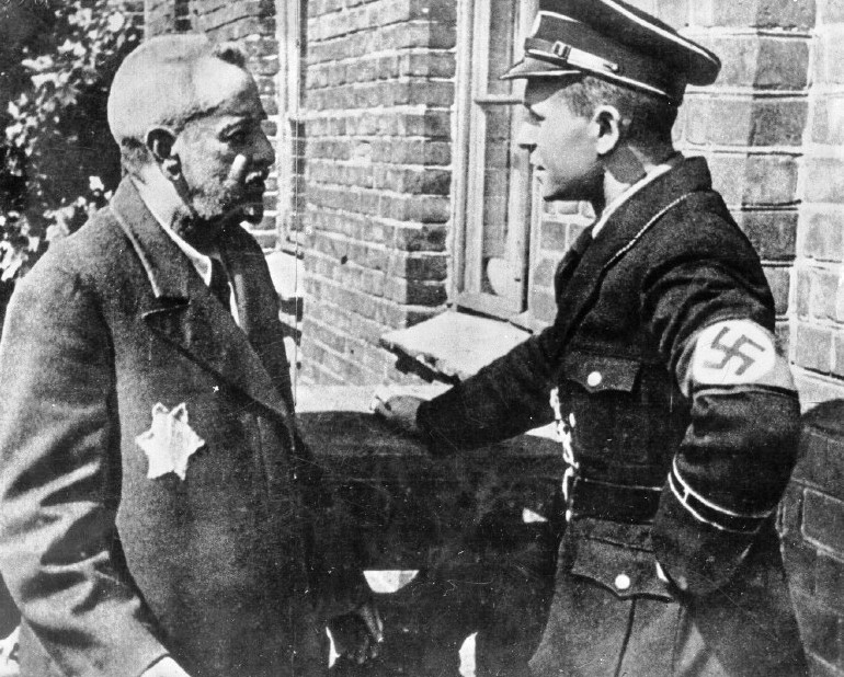 A Jew In Lodz Addresses An Ss Officer Blank Template Imgflip
