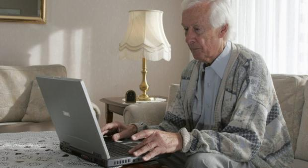 Old Man Computer Blank Template Imgflip