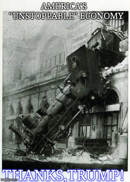 Trump Train Wreck The Real National Emergency Imgflip