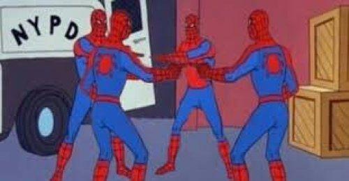 Spiderman Pointing At Spiderman Meme Generator Imgflip