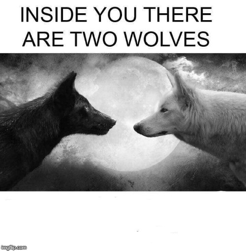 Inside You There Are Two Wolves Latest Memes Imgflip