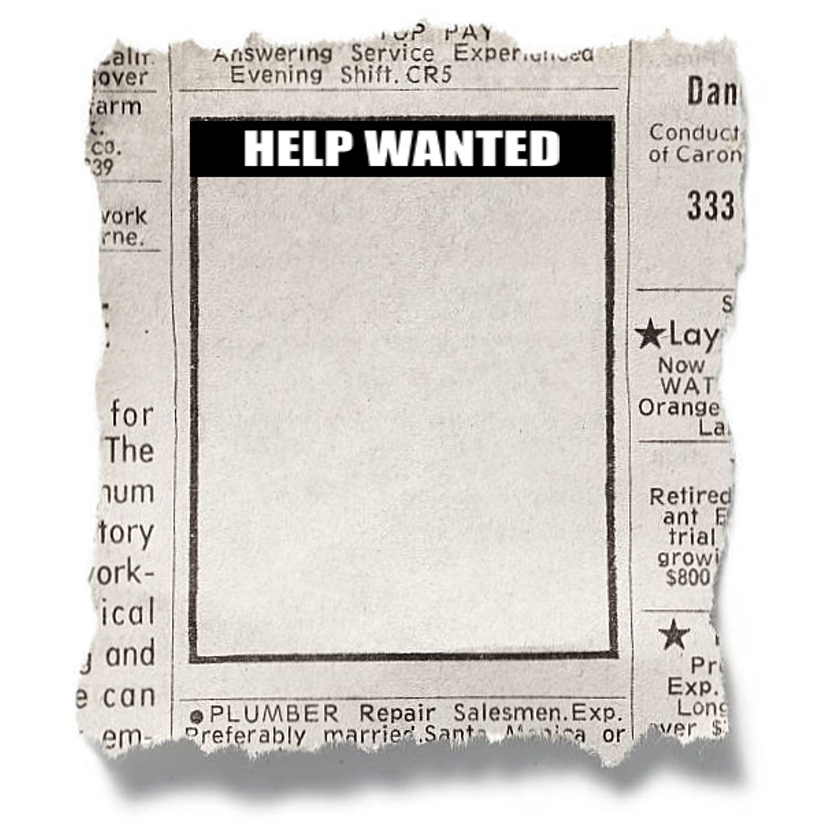 Help Wanted Template Blank Template