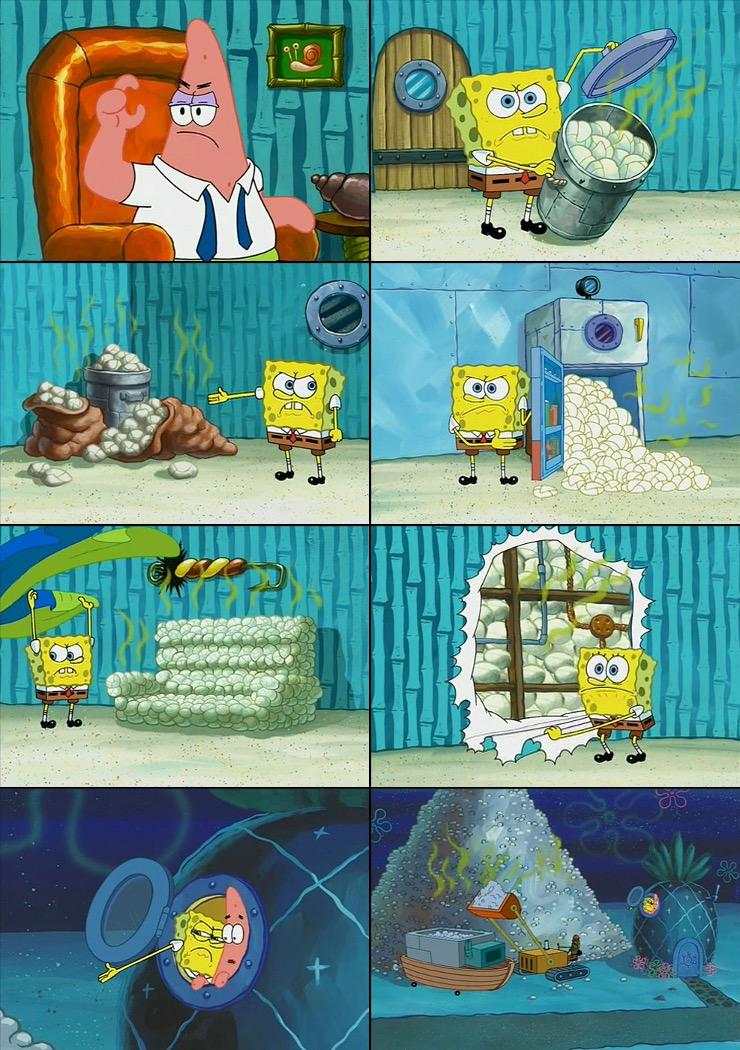 Spongebob Shows Patrick Garbage Blank Template Imgflip