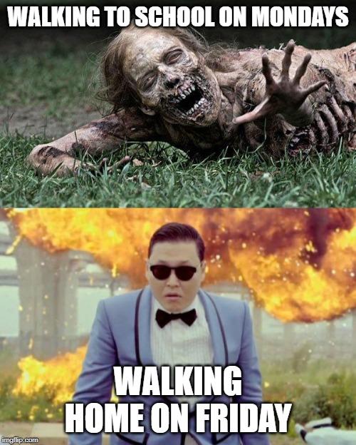 Middle School Walking Dead Zombie Memes Gifs Imgflip