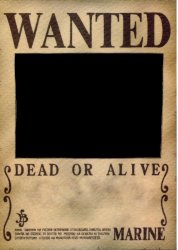 one piece wanted poster template meme