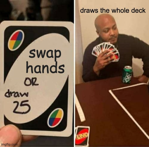 Uno Draw 25 Cards Meme Imgflip