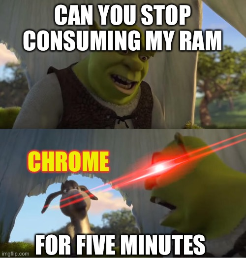 Users Chrome Uses So Much Ram Lol Web Developers Please Nobody Tell Them It S Our Fault Chrome Meme On Me Me