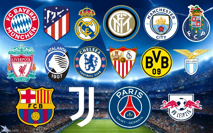 Teams that they would go through to Champions league ...