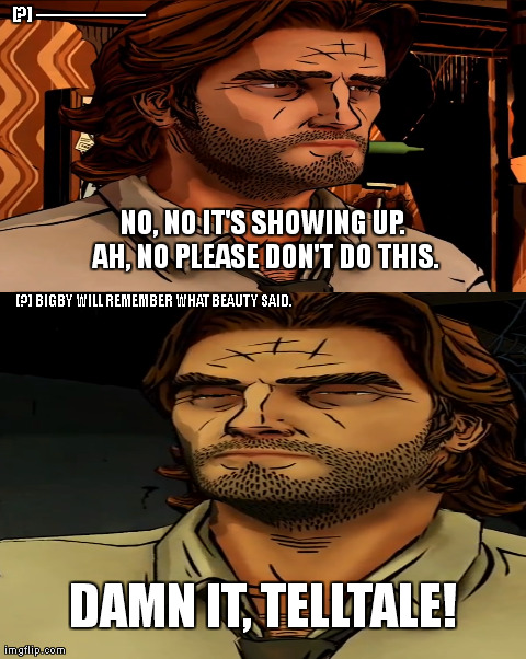 Meme And Funny Nonsense Thread The Wolf Among Us Mobile Warning