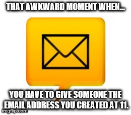 Adult life... kids email...