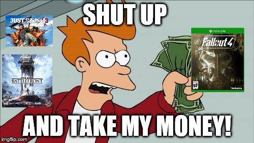 Shut Up And Take My Money Fry Meme Imgflip