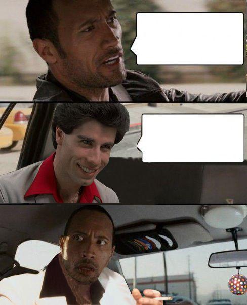Rock Driving Travolta Meme Generator Imgflip