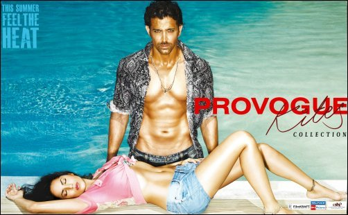 Hrithik and Barbara raise mercury levels with Kites Provogue Collection