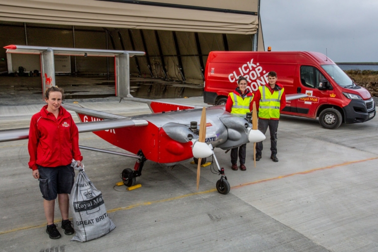 A drone which is being used to deliver post to a remote island in a Royal Mail trial as part of moves to reduce carbon emissions (Photo: PA)