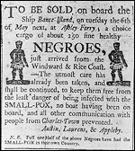 Photograph of newspaper advertisement from the 1780s