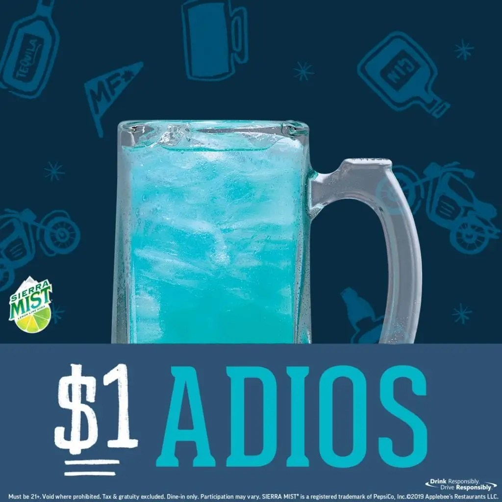Applebee S Is Serving 1 Adios Drinks The Entire Month Of