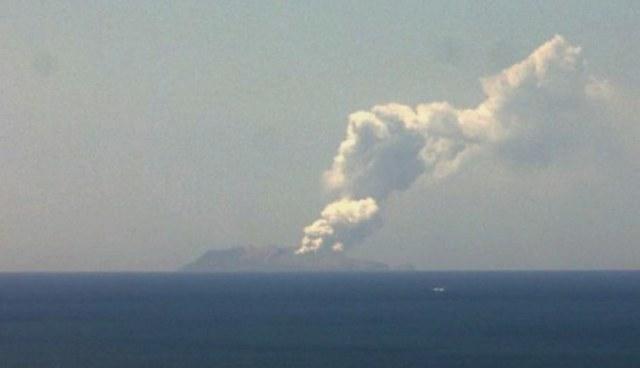 Erupcja wulkanu na nowozelandzkiej Białej Wyspie /NEW ZEALAND INSTITUTE OF GEOLOGICAL AND NUCLEAR SCIENCES/HANDOUT /PAP/EPA
