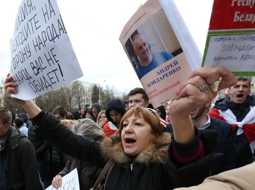Fala protestów przelewa się przez Białoruś /PAP/EPA