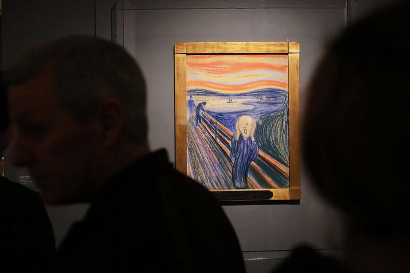 "Jedna z wersji ""Krzyku"" Edwarda Muncha /SPENCER PLATT / GETTY IMAGES NORTH AMERICA /AFP"