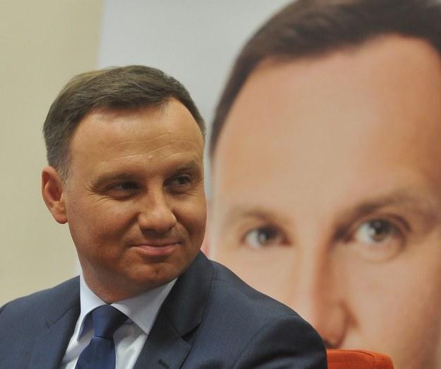 Kandydat na prezydenta Andrzej Duda /Witold Rozbicki /Reporter